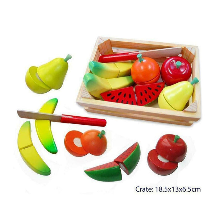 Cutting Fruit Crate With Knife