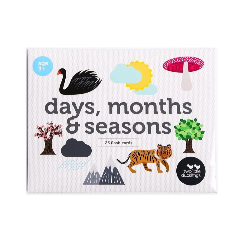 Days, Months, Season Flashcards-Two Little Ducklings-My Happy Helpers