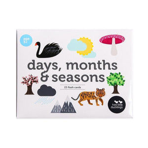Days, Months, Season Flashcards-[product_vendor-My Happy Helpers