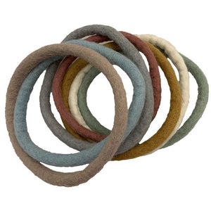 Earth Felt Rings Small Set - 7pc