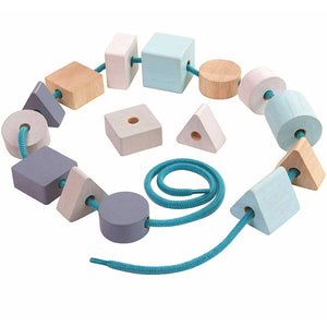 Geo Lacing Beads-Plan Toys