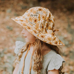 Girls Reversible Sun Hat - Marguerite / Maize-Bedhead Hats