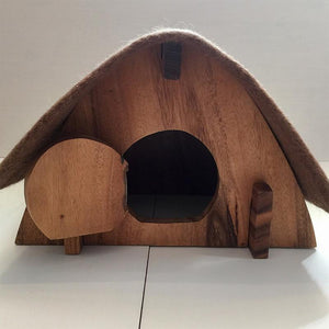 Hobbit House with Felt Roof