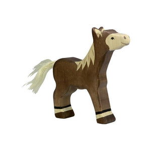 Holztiger - Foal, Standing, Dark Brown-[product_vendor-My Happy Helpers