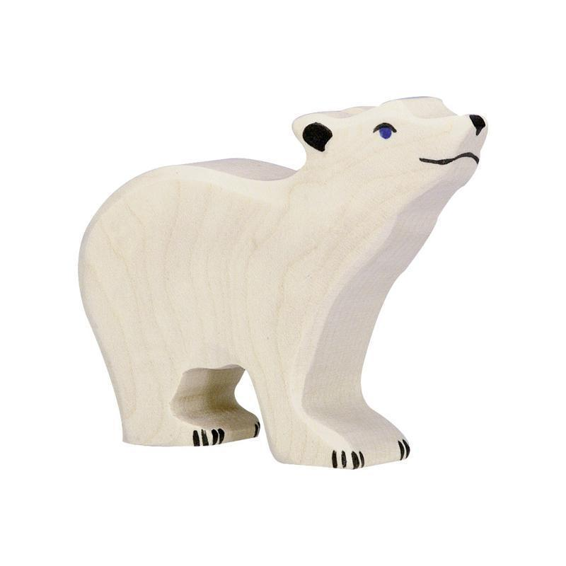 Holztiger - Polar Bear, Small, Head Raised-Holztiger-My Happy Helpers