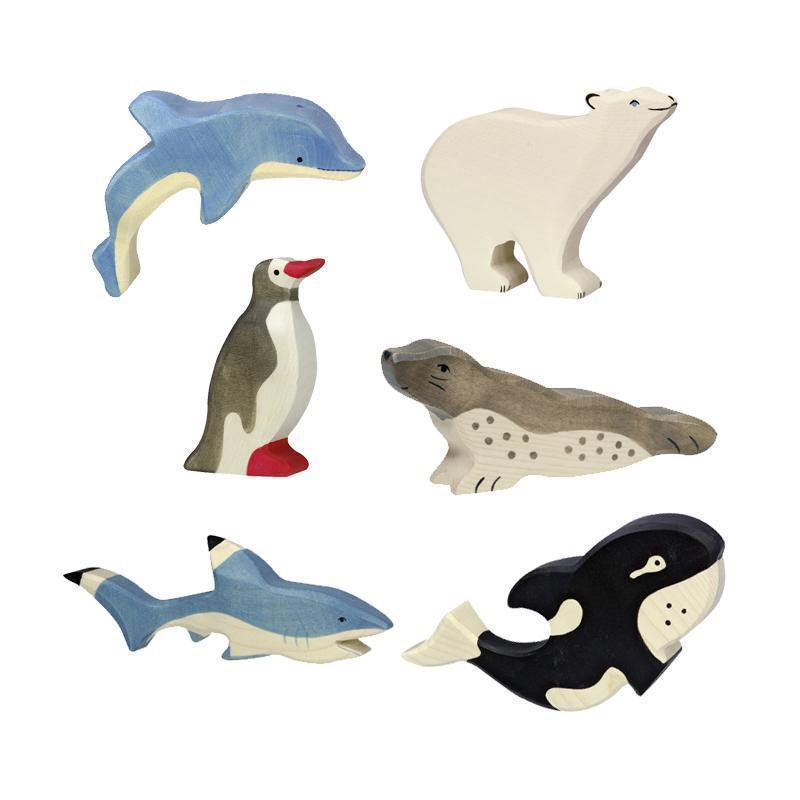 Holztiger - Sealife Aquatic Animal Set-Holztiger-My Happy Helpers