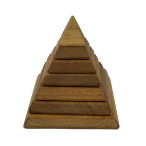 In-wood Sacred Geometry Natural Pyramid-[product_vendor-My Happy Helpers