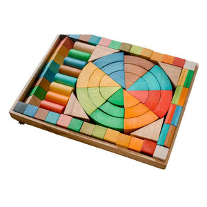 Jumbo Natural Rainbow Blocks 86 pcs.