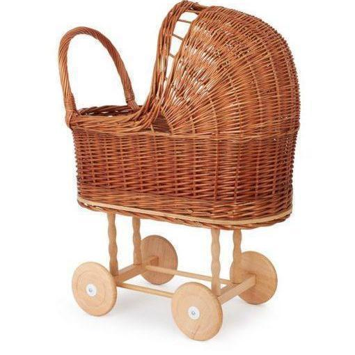 Wicker Dolls Pram-[vendor]-My Happy Helpers