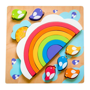Large Sun and Rainbow Puzzle-Kiddie Connect