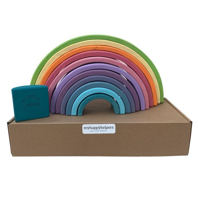 Large Wooden Rainbow Stacker-My Happy Helpers Pty Ltd