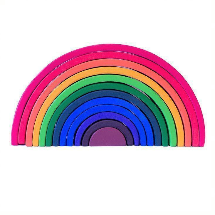 Large Wooden Rainbow Stacker-My Happy Helpers-My Happy Helpers