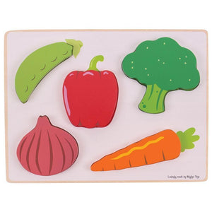 Lift and See Vegetable Puzzle-Bigjigs