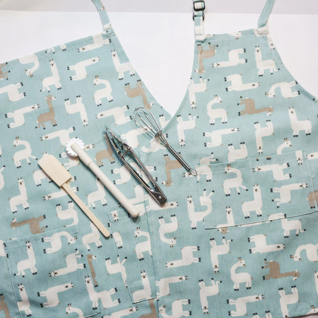 Llama Parent Aprons for Cooking and Baking-My Happy Helpers Pty Ltd