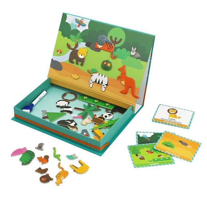 Mier Edu Magnetic Art Case - Animal World