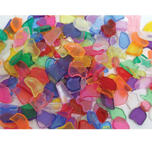 Mosaic Tiles Plastic Small - Transparent 250g-[product_vendor-My Happy Helpers