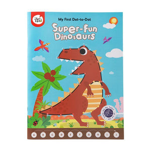 My First Dot-To-Dot Drawing Book - Super Fun Dinosaurs-JarMelo
