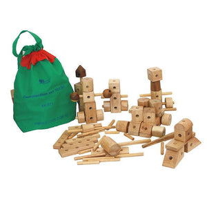 Natural Wood Construction Set-Play and Learn-My Happy Helpers