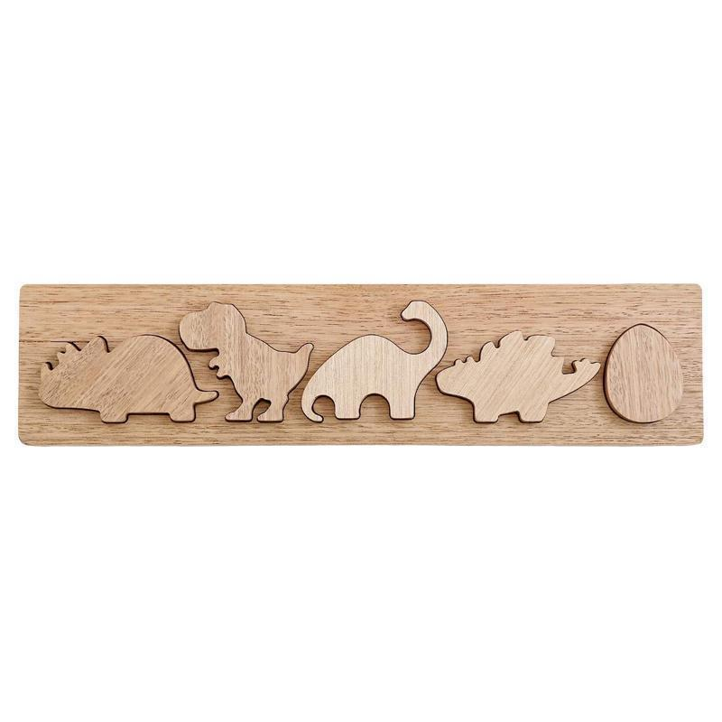 Natural Wooden Dinosaur Puzzle-Little Big Workshop-My Happy Helpers