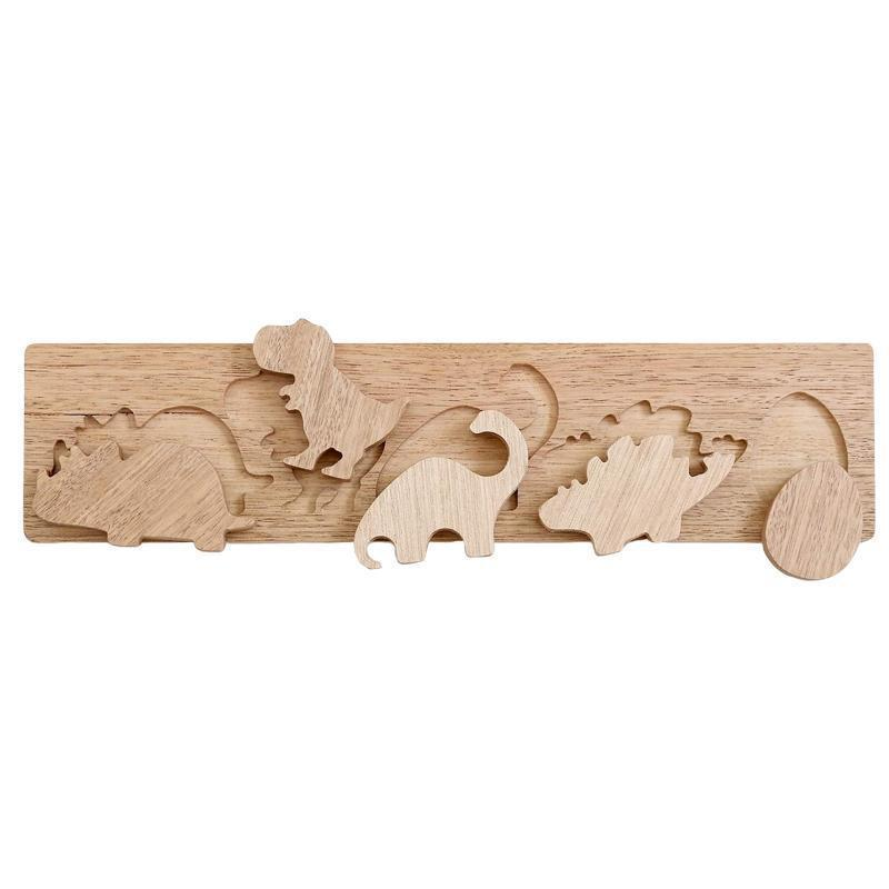 Natural Wooden Dinosaur Puzzle-Little Big Workshop-My Happy Helpers Pty Ltd