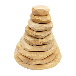Natural Wooden Stacking Stone