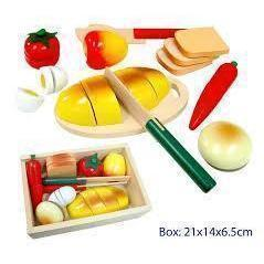Pretend Play Wooden Cutting Bread Box-[product_vendor-My Happy Helpers