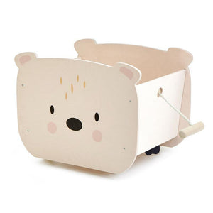 Pull Along Bear Cart-Tender Leaf Toys