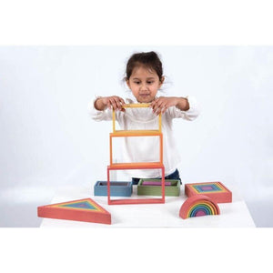 Rainbow Architect 28 Piece Set Wooden Building Blocks-[product_vendor-My Happy Helpers