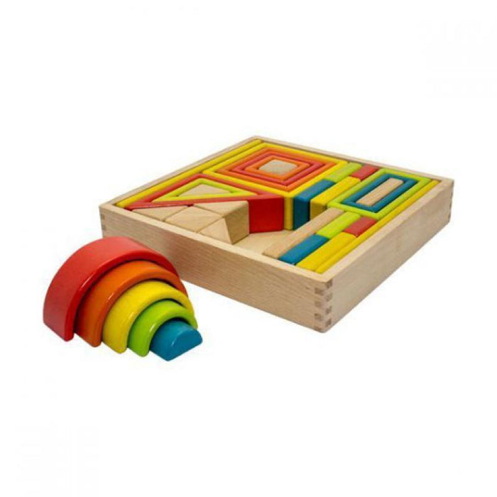 Rainbow Wooden Block Set