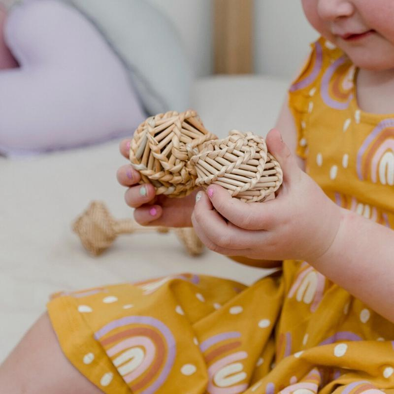 Rattan Egg Shakers - Babynoise-Babynoise-My Happy Helpers
