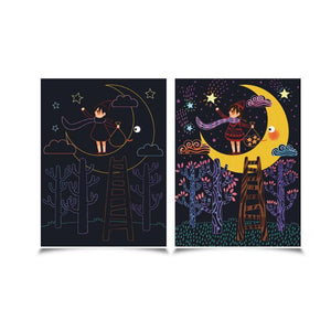 Scratch Card Set - Full Moon