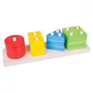 Shape Peg Board-Bigjigs