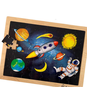 Space Wooden Tray 48 Piece Puzzle-[product_vendor-My Happy Helpers