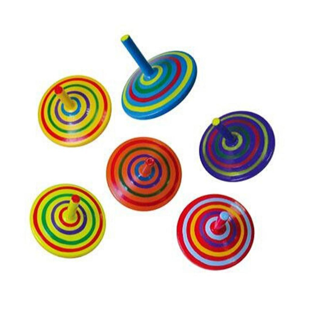 Striped Spinning Tops-Viga Toys-My Happy Helpers