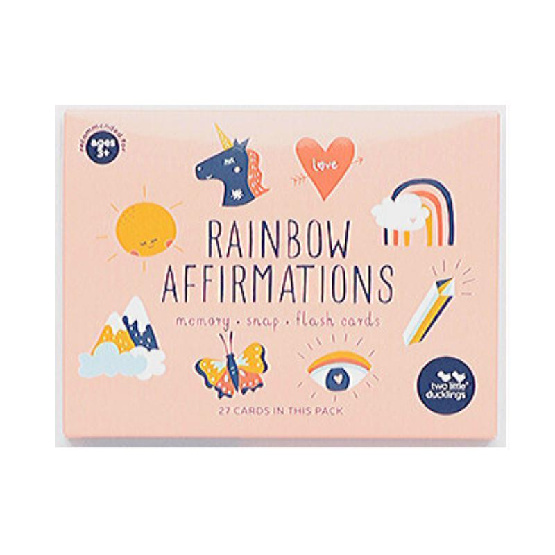 Toddler Affirmations and Rainbow Memory Game Set-Two Little Ducklings-My Happy Helpers