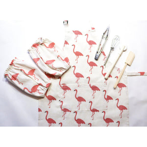 Toddler Flamingo Apron for Craft and Cooking-My Happy Helpers