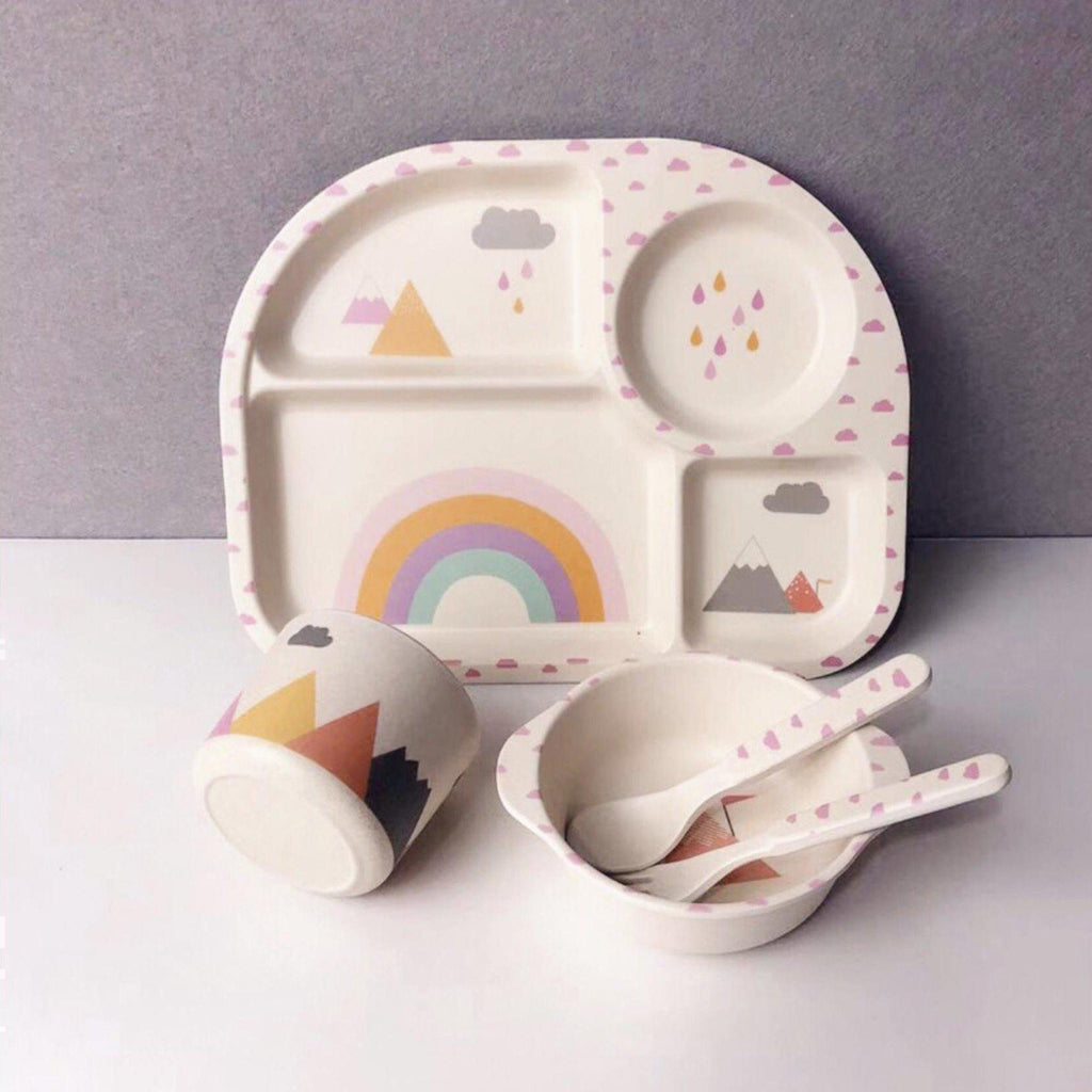 Toddler Rainbow Bowl Set-[vendor]-My Happy Helpers