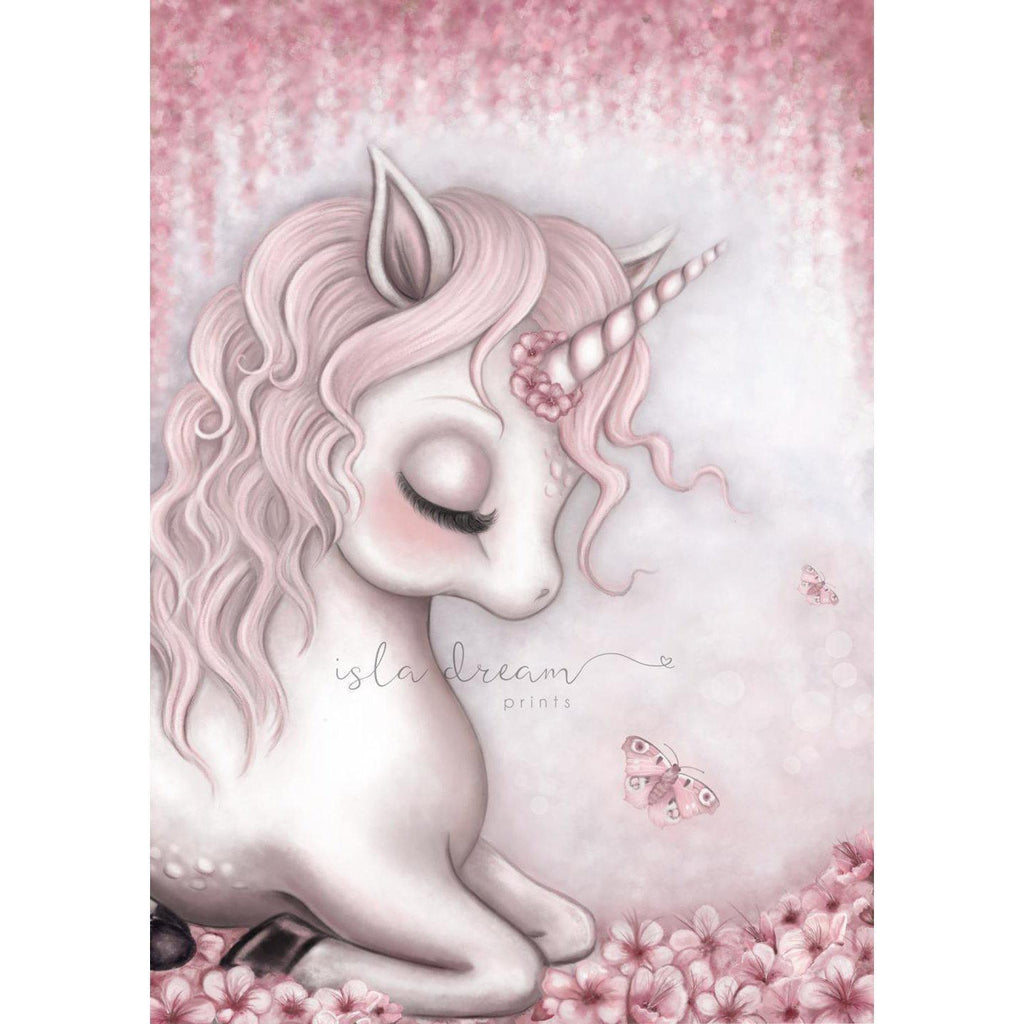 Unicorn Nursery Art Print-Isla Dream Prints-My Happy Helpers
