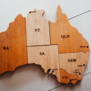 Wooden Australian Map Puzzle-[product_vendor-My Happy Helpers