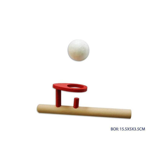 Wooden Ball Blower with 2 Balls