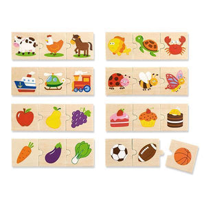 Wooden Categorising Puzzle Set-Viga Toys