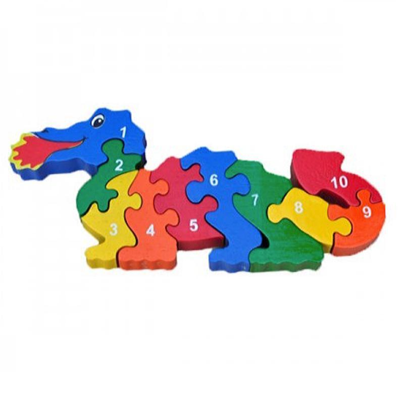 Wooden Dragon Counting Puzzle-Artiwood-My Happy Helpers Pty Ltd