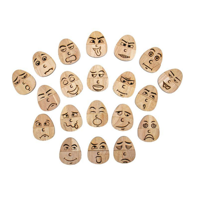Wooden Egg-pressions set of 20