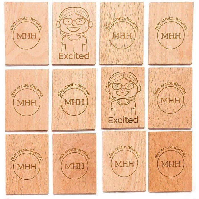 Wooden Emotion Recognition Memory Game