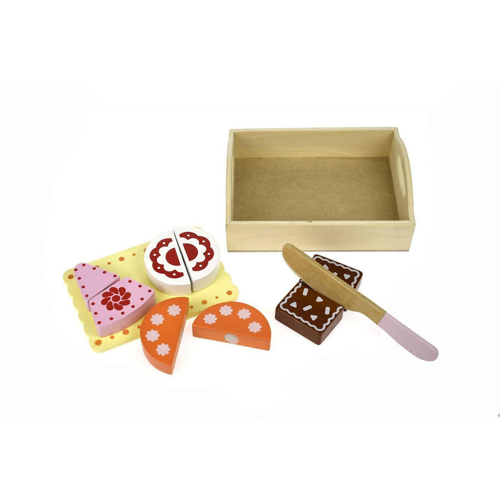 Wooden Food Tray - Dessert, Cakes and Storage Box-Kaper Kidz-My Happy Helpers