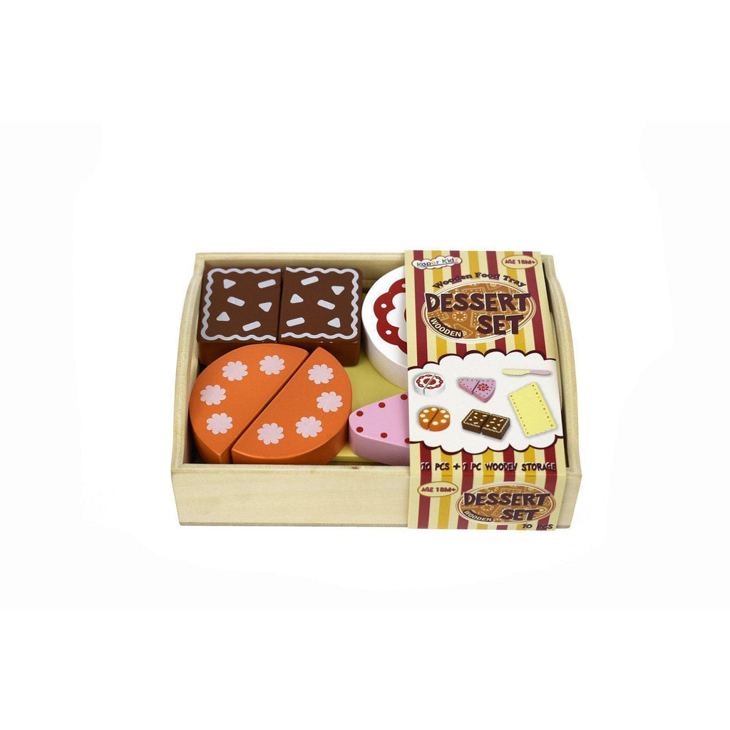 Wooden Food Tray - Dessert, Cakes and Storage Box-[vendor]-My Happy Helpers