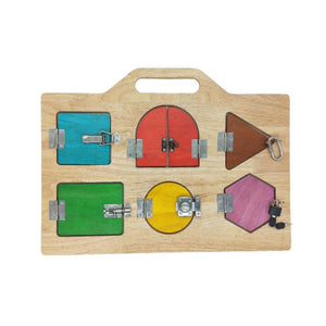 Wooden Lock Activity Board-Qtoys