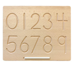 Wooden Number Tracing Board-[product_vendor-My Happy Helpers