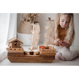 Wooden Pirate ship-Qtoys