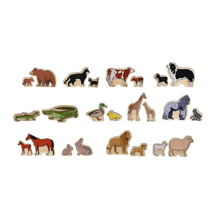 Wooden Play Animal Families